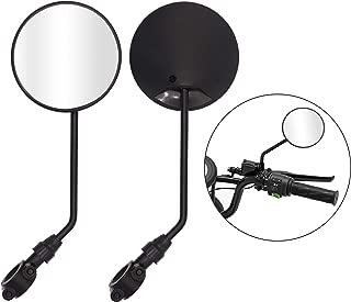 Taigoehua Bike Rearview Mirrors adjustable Universal M8x1.0 Antenna Style Retro Vintage Round Mirrors with 7/8