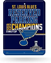 Rico Industries NHL St. Louis Blues 8-Inch by 11-Inch Metal Parking Sign Decor8-Inch by 11-Inch Metal Parking Sign Decor, Blue, 9