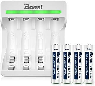 プロランキングBONAI充電式バッテリー充電器セット4スロット急速充電器AA充電式バッテリー1.5v ..購入