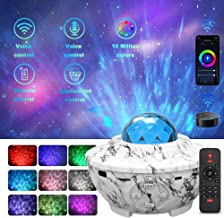 Music Star Light Projector with Remote Control - Star Projector Night Light Working with Smart APP & Alexa Best for Bedroo...
