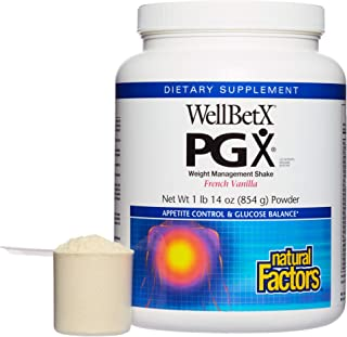 PGX by Natural Factors, WellBetX Weight Management Shake Mix, Supports Appetite Control, French Vanilla, 30.4 oz (14 servi...