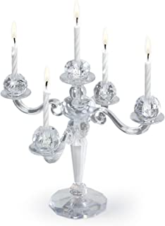 Fancy That 5228997 Cake Candelabra Birthday Holder with 9 Candles, 6.566, Assorted