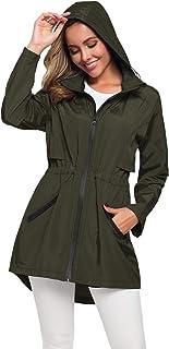 کت بارانی بلند زنانه با کاپشن سبک و سبک کاپشن ضد آفتاب در فضای باز ضد آب