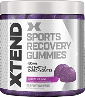 XTEND Sports Recovery Gummies with 3.5g Branched Chain Amino Acids, BCAAs + Fast-Acting Carbohydrates, Berry Blast, 60 Gum...