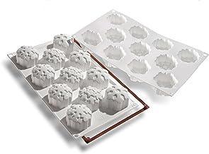 Silikomart SF115 Silicone Let's Celebrate Bakeware Collection Multi Cake Pan, Snowflakes