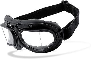 beschlagfrei Helly/® Motorradbrille Brille: 1370 No.1 Bikereyes/® Brillengestell: schwarz HLT/® Kunststoff-Sicherheitsglas nach DIN EN 166 winddicht