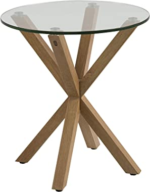 Marque Amazon - Movian Zala - Table basse, 50x50x55cm (longueurxlargeurxhauteur), Marron