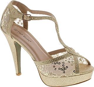 11b86e23f8f Amazon.com  Top Moda - Heeled Sandals   Sandals  Clothing