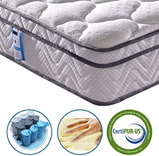 Vesgantti 10.2 Inch Twin XL Multilayer Hybrid Mattress, Bed in a Box, Medium Firm Plush Feel- Memory Foam and Pocket Spring - CertiPUR-US Certified/10 Year Guaranty