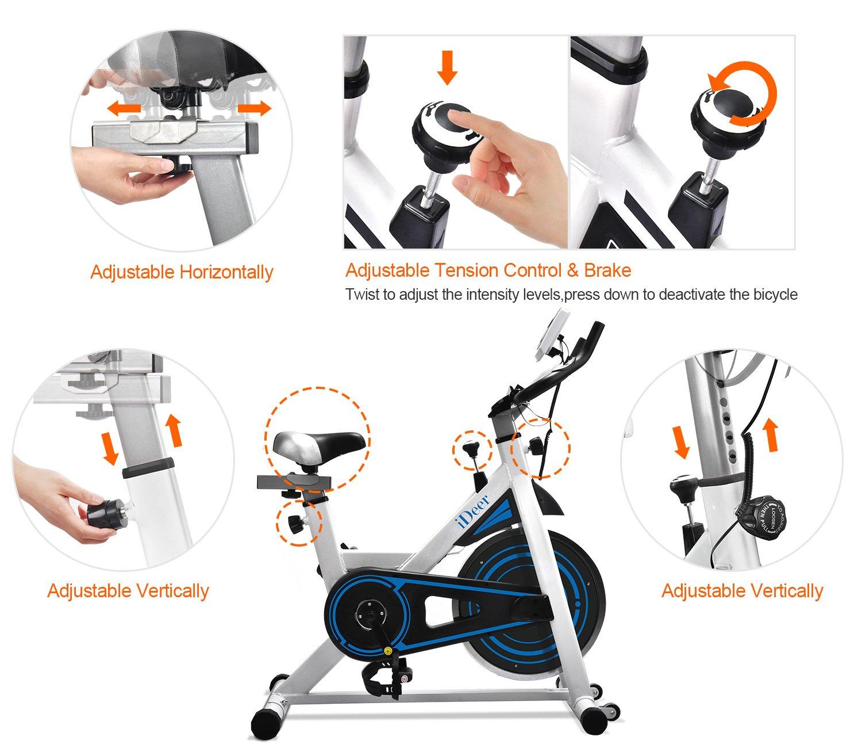 iDeer Life - Bicicleta de ejercicio para interior y ciclismo ...