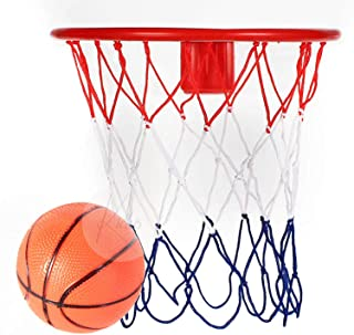 Kicko 8-Inch Over the Door Basketball Hoop - with Mini Ball Set Or On the Wall - Fun Sports Game - Kids, Teens and Adults