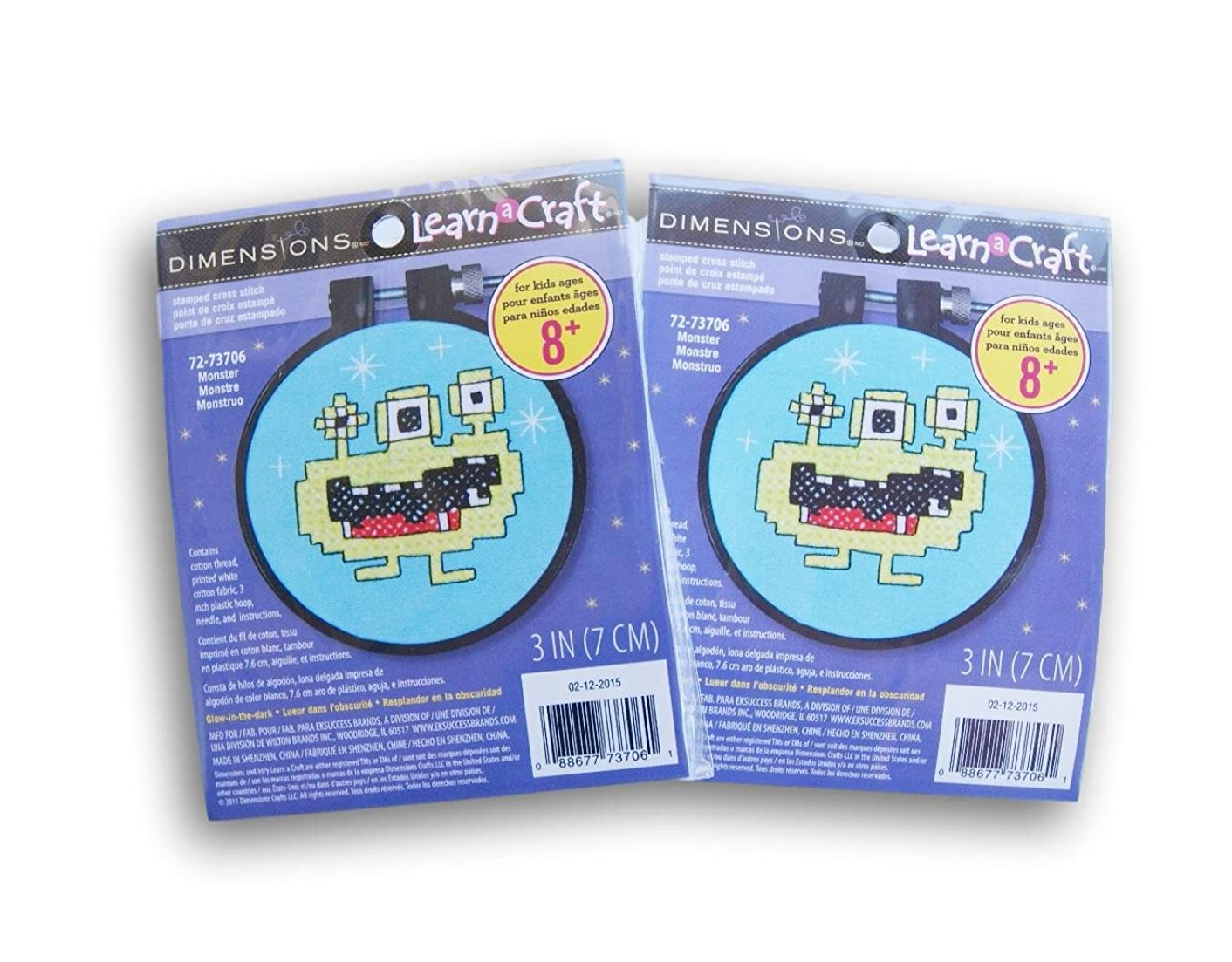 Dimensions Needlecrafts Monster Counted Cross Stitch - Set of 2