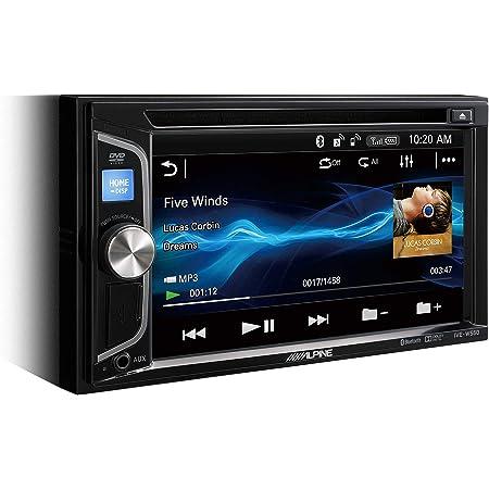 Alpine Ive W560bt Multimedia System 200 W Wvga Bildschirm Eingebauter Cd Dvd Player Mit Bluetooth 2 Vorverstärkerausgänge Schwarz Auto