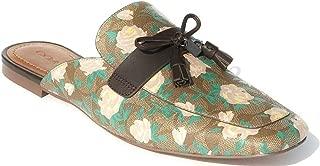 Womens Tassel Loafer Slide Slippers Khaki/Pink Size 7.5 B