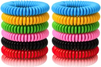 Reusable Bracelet 24 Pack, Natural and Waterproof Wrist Bands for Adults, Kids, Pets-Nature Citronella, Lemongrass and Euc...