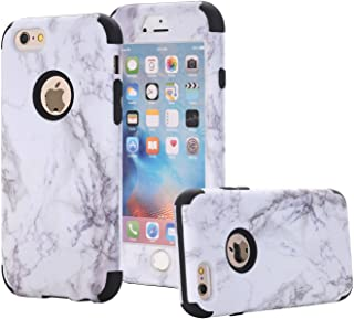 for iPhone 6s Case, iPhone 6 Case, ASSUR 3-in-1 Unique Marble Design Slim Anti-Scratch Shockproof Anti-Finger Dust Proof Protective Ultra Hard Premium Cover Case for Apple iPhone 6s (Black)