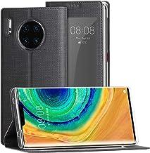 DDJ Huawei Mate 30 Pro Case, [Smart View Window] [Auto Screen Sleep/Wake] [Full Protection] [Stand Kickstand] for Huawei M...