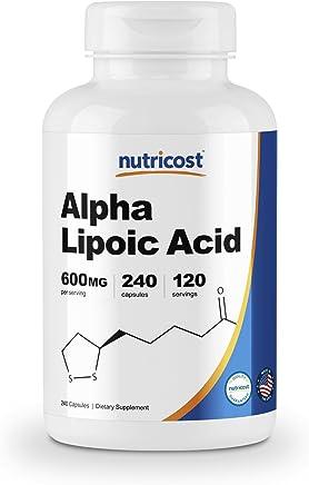 Nutricost Alpha Lipoic Acid - 600mg Per Serving - 240 Capsules - 120 Servings - Gluten Free & Non-GMO