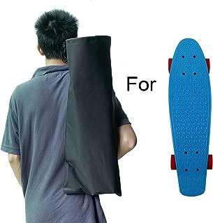 Cooplay Black Small Penny Banana Skateboard Backpack Mini Carry Bag 22
