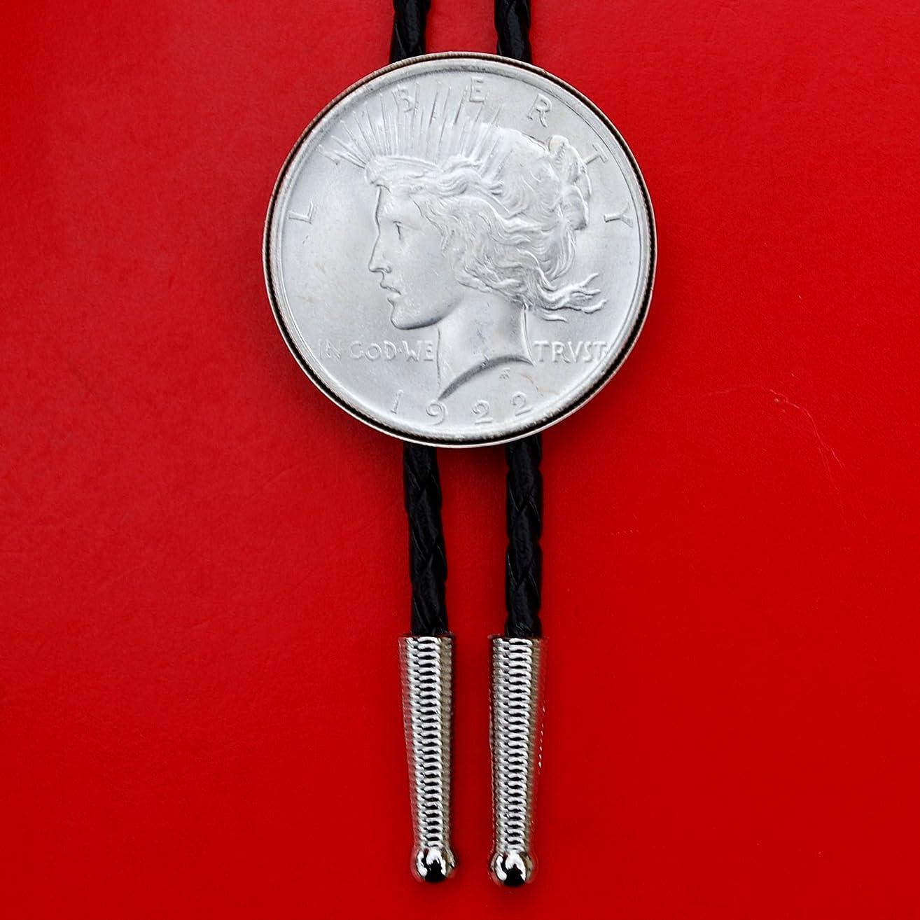 US Genuine 1922 Peace Dollar 90% Silver BU Uncirculated Coin Simple Slide 36