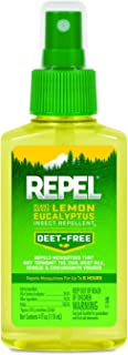 REPEL Plant-Based Lemon Eucalyptus Insect Repellent, Pump Spray, 4-Ounce, 6-Pack
