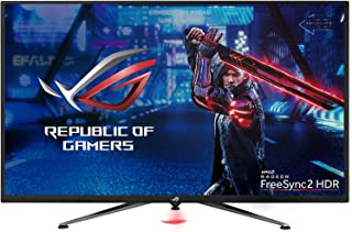 ASUS ROG Strix XG438Q 43 inch Large Gaming Monitor HDR 4K (3840 x 2160) 120 Hz Freesync Premium Pro, DisplayHDR 600, DCI-P3 90%, Shadow Boost Non-Glare Eye Care, 10W Speakers,HDMI and DP 1.4,Remote