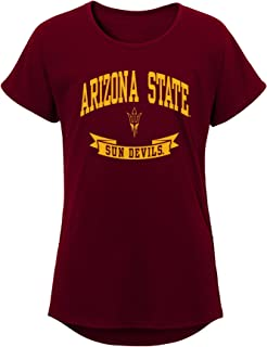 NCAA Arizona State Sun Devils Girls Outerstuff Short Sleeve Dolman Tee, Team color , Youth Large (12-14)