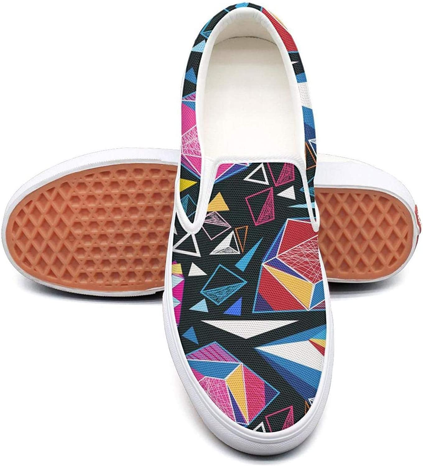 colorful Raw Diamond Slip On Rubber Sole Sneakers Canvas shoes for Women Lightweight
