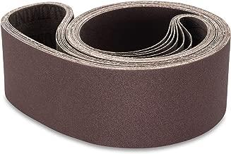 Red Label Abrasives 2 X 48 Inch 80 Grit Aluminum Oxide Metal Sanding Belts, 6 Pack