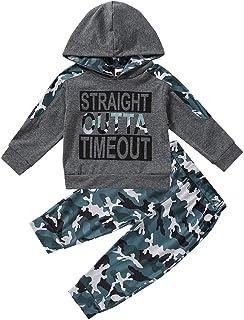 TROSJ Baby Boys Clothes Newborn Boy Hoodie Pants Set Long Sleeves Toddler Infant Sweatshirt Camouflage Babies Outfit