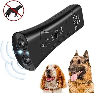 InooSky Anti Barking Handheld 3 in 1 Pet LED Ultrasonic Dog Trainer Device - Electronic Dog Deterrent/Training Tool/Stop Barking