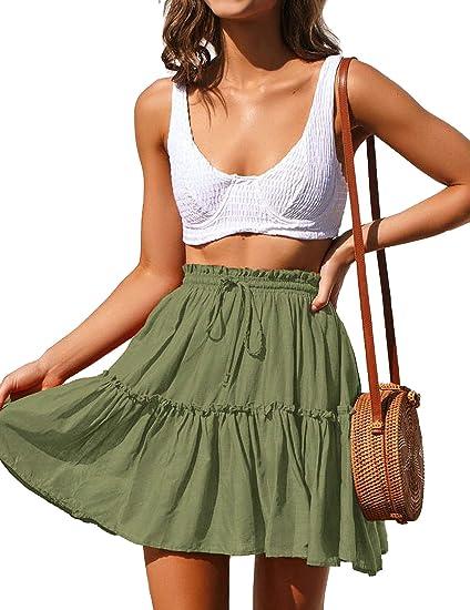 short green boho skirt