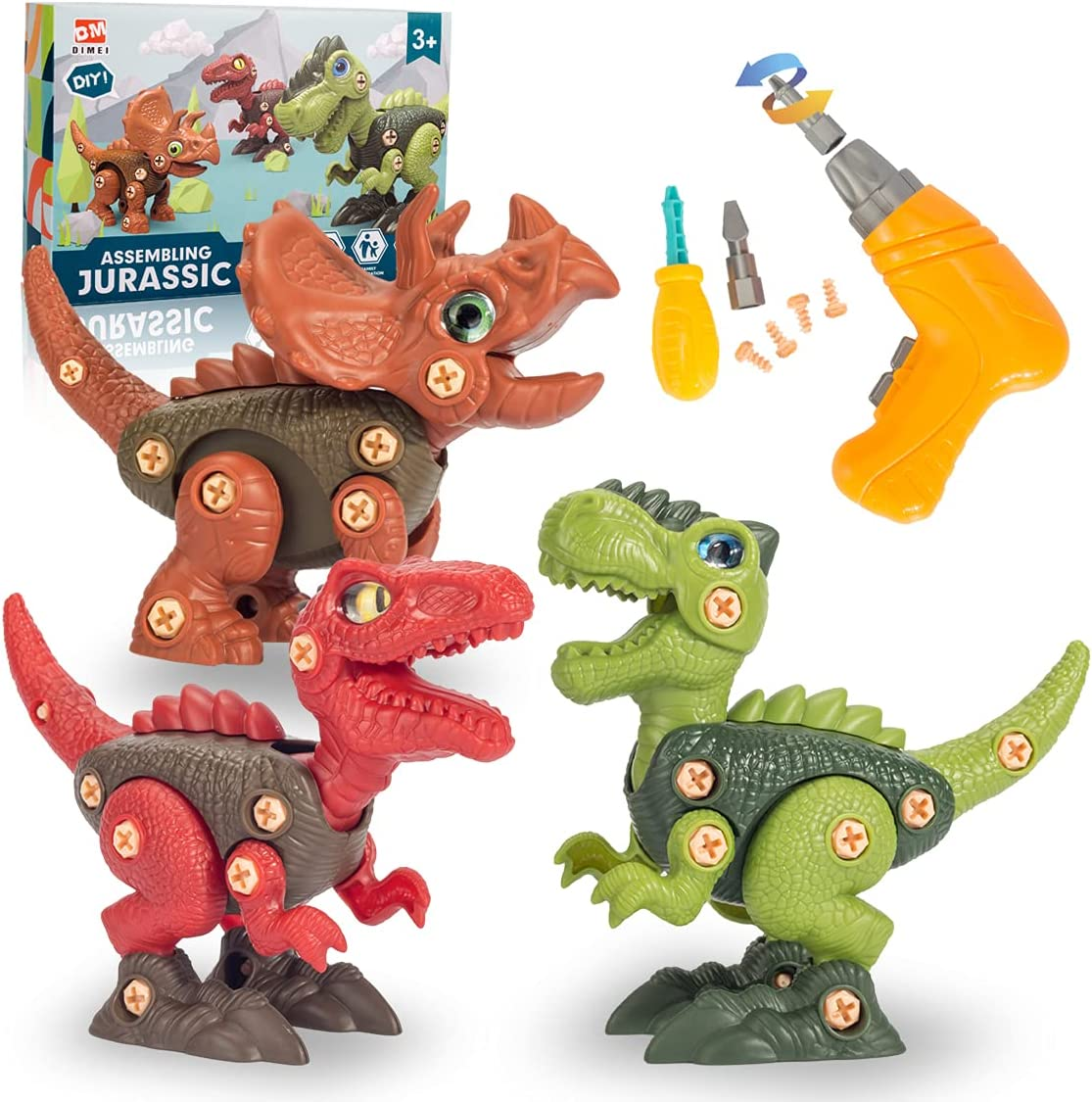 Albuquerque Mall VNVDFLM Take Apart Dinosaur Toys for Max 66% OFF 3 4 Years ST 7 Boys Old 5 6