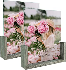 CRUGLA 8x10 Glass Picture Frames Large Standing Tabletop Frame 8x10 Family Photos