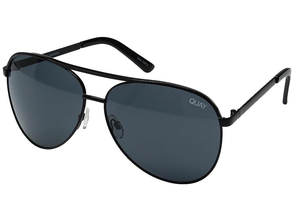 QUAY AUSTRALIA Vivienne (Black/Smoke Lens) Fashion Sunglasses