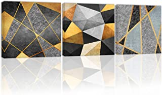 Modern Abstract Wall Art Decor Black and White Golden Canvas Painting Kitchen Prints Pictures for Home Living Dining Room