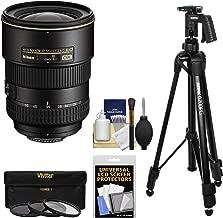 Nikon 17-55mm f/2.8 G DX AF-S ED-IF Zoom-Nikkor Lens with Pistol Grip Tripod + 3 Filters Kit for D3200, D3300, D5300, D5500, D7100, D7200 DSLR Cameras