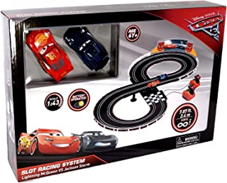 Pixar Cars Slot Racing System - Lightning McQueen vs Jackson Storm