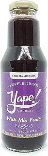 Chicha Morada Purple Drink with Mixed Fruits - Peruvian Beverage - Yape Gourmet - 16 Oz Bottle - Product of Peru