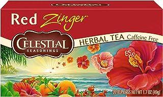 Celestial Seasonings Tea No Caffeine Herbal Tea, Red Zinger 20 ea (Pack of 2)