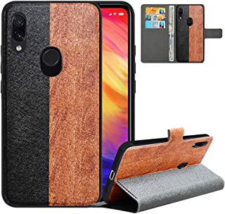 LFDZ Compatible with Redmi Note 7 Case,PU Leather Redmi Note 7 Wallet Case with [RFID Blocking],2 in 1 Magnetic Detachable Flip Slim Cover Case for Xiaomi Redmi Note 7/Note 7/Note 7 Pro,Black/Brown
