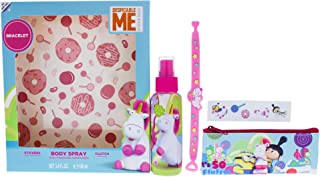 Mpf Fluffy By Mpf for Kids - 4 Pc Gift Set 3.4oz Body Spray, Clutch, Stickers, Bracelet, 4count