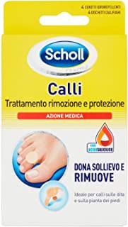 Scholl Trattamento Rimozione Protezione Calli, 4 Cerotti e 4 Dischetti