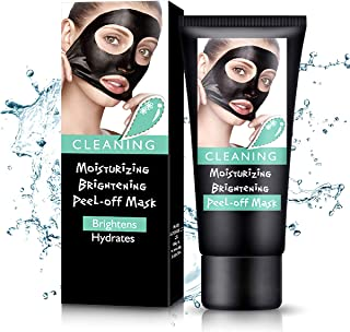 Blackhead Remover Mask, Black Mask,Peel Off Facial Mask,Moisturizing,Brightening,Hydrating Face Mask with Volcanic Soil For All Skin Types-60 Gram (60)