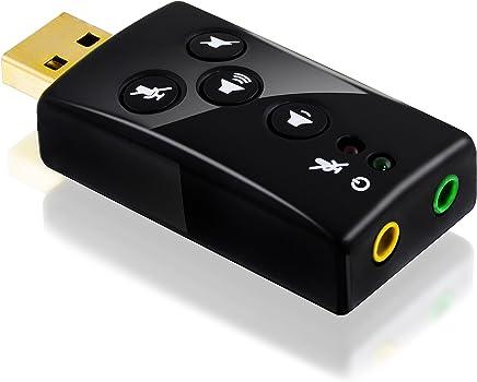 CSL - Carte son USB 7.1 externe | son 3D Surround dynamique | touches fonctionnelles comprises