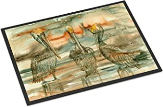 """Caroline's Treasures Pelicans on Their Perch Abstract Indoor or Outdoor Mat 18x27 8980MAT, 8980MAT, Multicolor, 18"""" H x 27"""" W"""