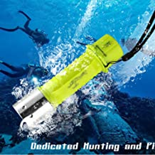 Asolym Linterna T6 Linterna de Buceo LED Resplandor Plástico Linterna Control magnético Linterna 3AAA Batería