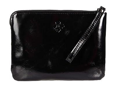 Patricia Nash Cassini Clutch (Black Patent) Handbags