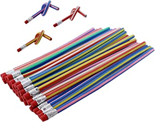 Newbested 50Pcs Magic Bendy Flexible Soft Pencil With Eraser For Kids Drawing Writing School Study Gift