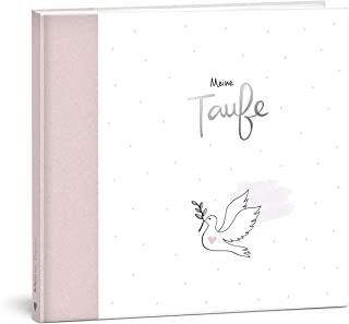 """MINTKIND® Księga gości """"Meine Taufe"""" różowa dziewczyna I Księga do chrztu, prezent na chrzciny, album na chrzciny, książka..."""